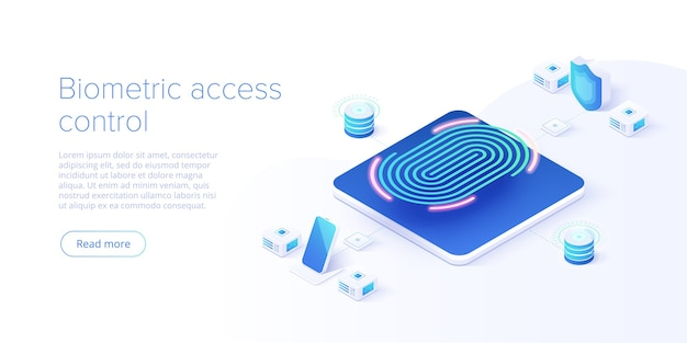 Biometric access control in isometric