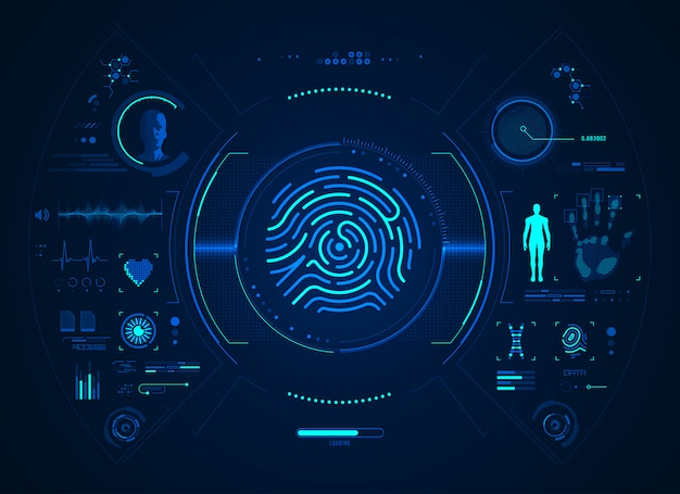 Biometric fingerprint interface