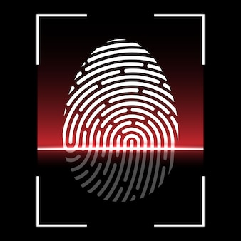 Biometric fingerprint scan, identification system