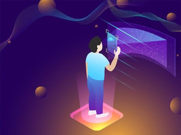 Biometric scanning technology concept.