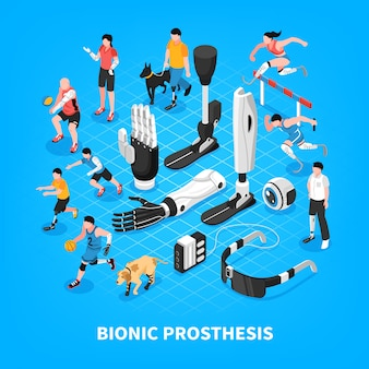 Bionic prothesis isometric composition