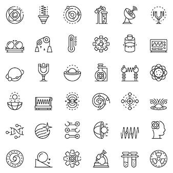 Biophysics icons set
