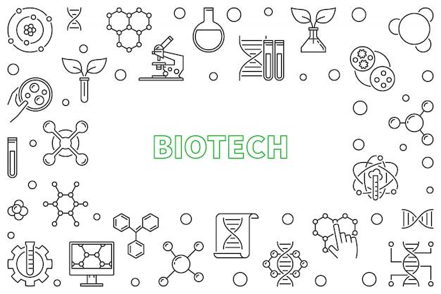 Biotech horizontal outline frame