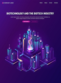 Biotechnology biotech industry isometric