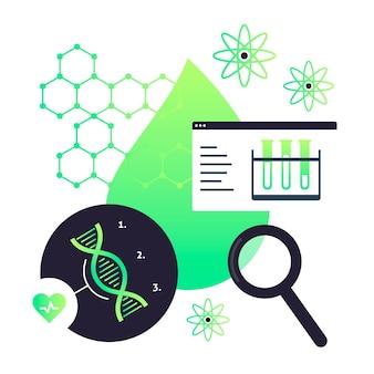 Illustrazione di concetto di biotecnologia