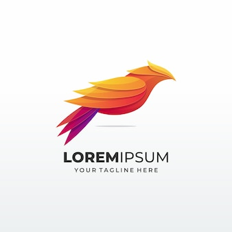 Bird abstract concept logo