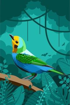 鳥動物の森のベクトル図