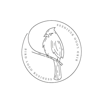 Bird animal vintage retro logo