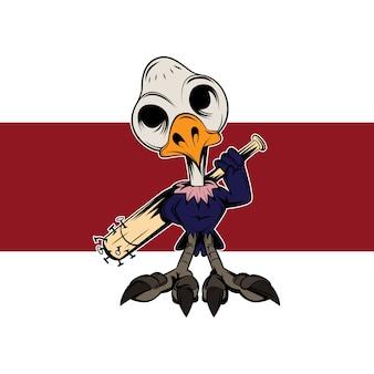 Bird bone cartoon