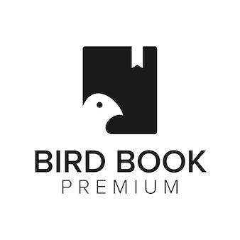 Bird book logo icon vector template