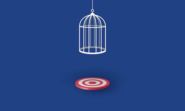 目標を超える鳥かごリスク管理コンセプトインスピレーションビジネス