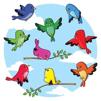 Пакет мультяшных птиц