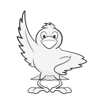 鳥キャラクター/マスコットベクトル