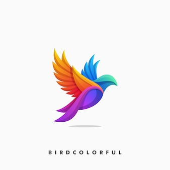 Bird colorful concept illustration