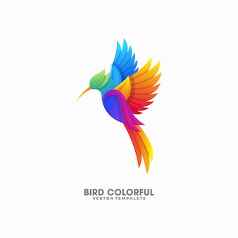 Bird colorful illustration vector template
