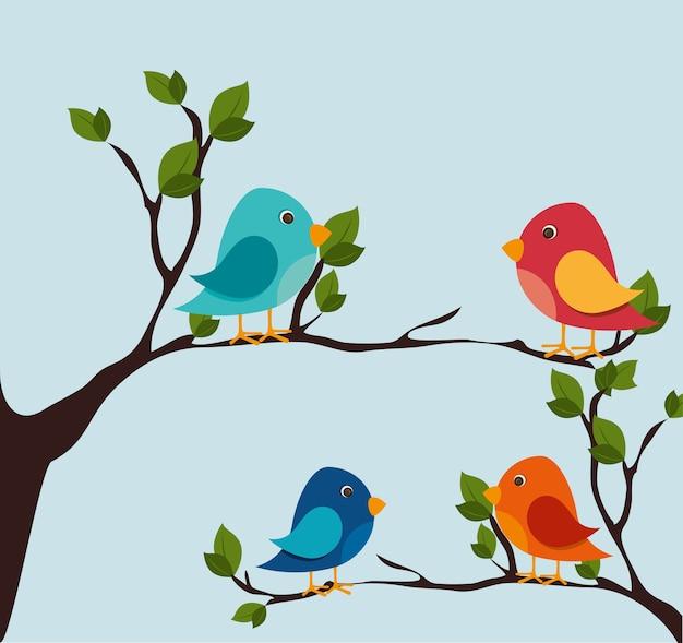 Птица дизайн, векторные иллюстрации.