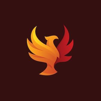 Bird eagle falcon phoenix wing logo