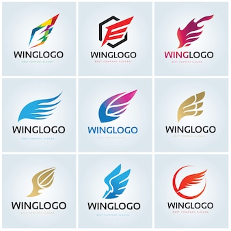 Bird eagle and wing logo template.