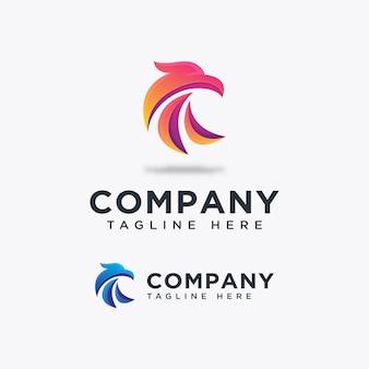Bird falcon logo template ilustration icon