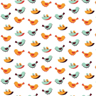 Bird family pattern