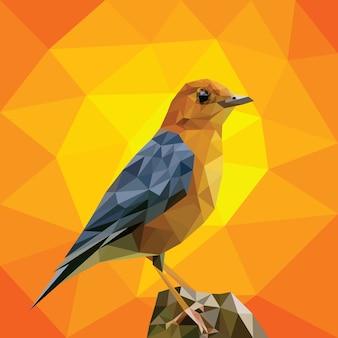 Bird Geometric Low Polygonal Vector Template