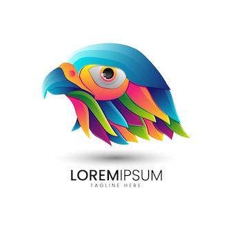 새 그라데이션 다채로운 로고