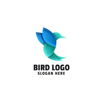 鳥のグラデーションのロゴデザイン