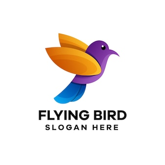 Bird gradient logo design