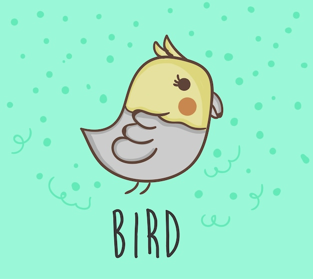 Птица рисования векторный стиль