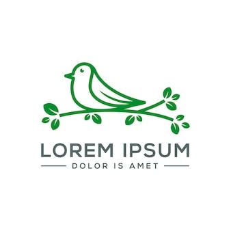 Bird leaf logo icon template