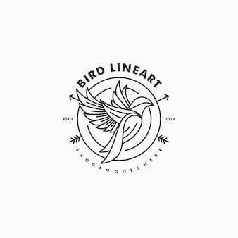 Bird line art concept illustration