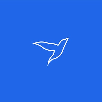 Bird line art simple minimalist logo design inspiration vector illustration