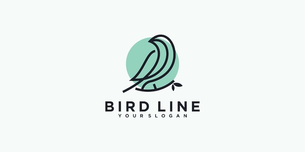 Bird line logo reference for business