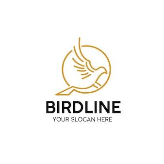Логотип линии птицы