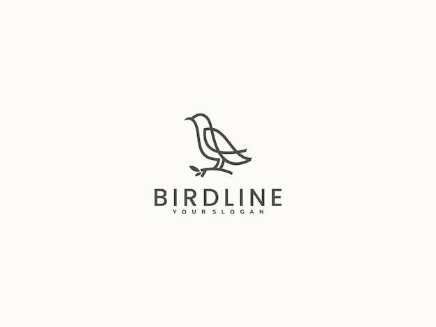 Bird line vector logo design