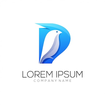 Bird logo abstract