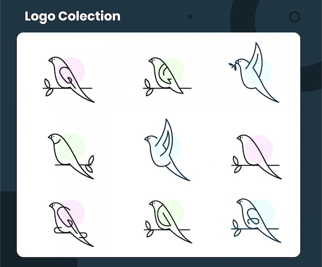 Коллекция логотипов птиц