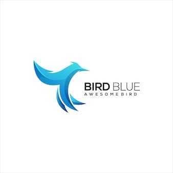 Bird logo colorful gradient abstract