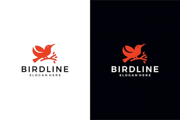 Концепция логотипа птицы