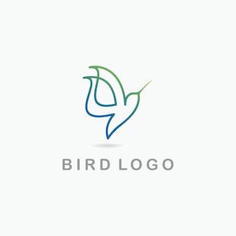Bird logo creative template