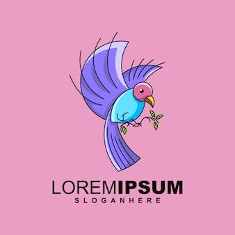 Bird logo design premium