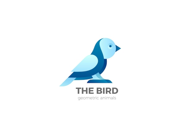 Bird logo design. template. owl sparrow sitting logotype.