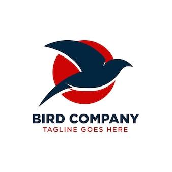Bird logo design template with korean style