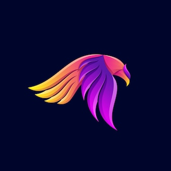 Bird logo  gradient