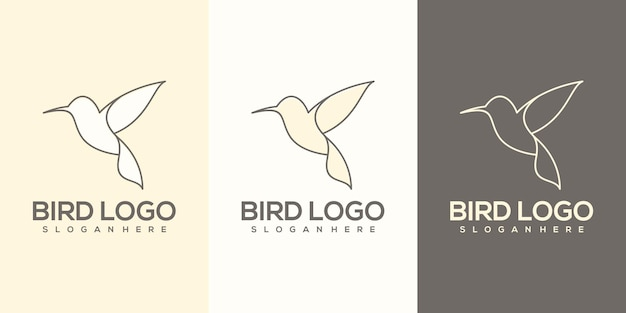 Логотип птицы готов к использованию