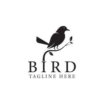 孤立した白い背景の鳥のロゴベクトルデザインテンプレート