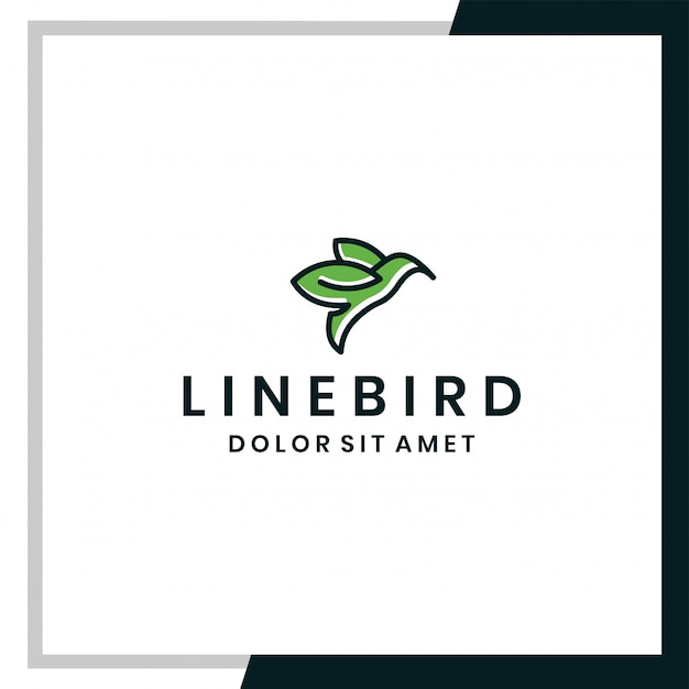 Bird logo vector icon template