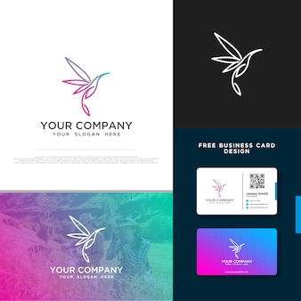 Bird logo with free business card design