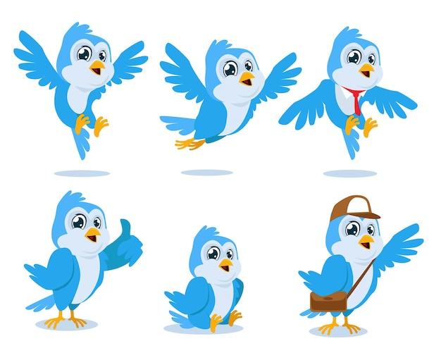 鳥のマスコット漫画