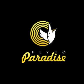 새의 낙원 비행 로고
